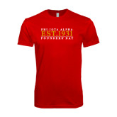 Next Level SoftStyle Red T Shirt-