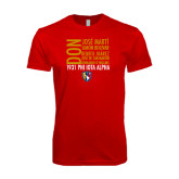 Next Level SoftStyle Red T Shirt-5 Pillars Names