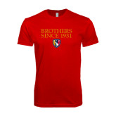 Next Level SoftStyle Red T Shirt-Brothers Since 1931