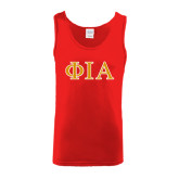 Red Tank Top-Official Greek Letters Two Color