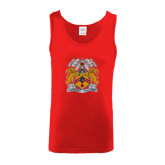 Red Tank Top-Crest