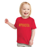 Toddler Red T Shirt-Hashtag PHIOTA