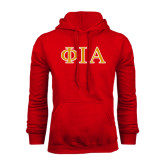 Red Fleece Hoodie-Official Greek Letters Two Color