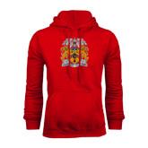 Red Fleece Hoodie-Crest