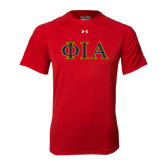 Under Armour Red Tech Tee-Official Greek Letters Two Color