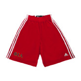 Adidas Climalite Red Practice Short-Official Greek Letters Two Color