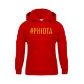 Youth Red Fleece Hoodie-Hashtag PHIOTA