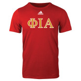 Adidas Red Logo T Shirt-Official Greek Letters Two Color