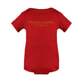 Red Infant Onesie-PHI Stars