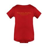 Red Infant Onesie-PHI Stars