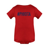 Red Infant Onesie-Hashtag PHIOTA