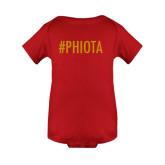Red Infant Onesie-Hashtag PHIOTA