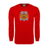 Red Long Sleeve T Shirt-Crest