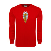 Red Long Sleeve T Shirt-Badge