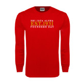 Red Long Sleeve T Shirt-