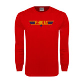 Red Long Sleeve T Shirt-Top Gun Style