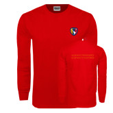 Red Long Sleeve T Shirt-Shield