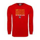 Red Long Sleeve T Shirt-5 Pillars Names