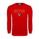 Red Long Sleeve T Shirt-Brothers Since 1931