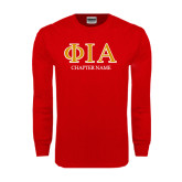 Red Long Sleeve T Shirt-Chapter Name