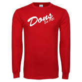 Red Long Sleeve T Shirt-Dons Est 1931