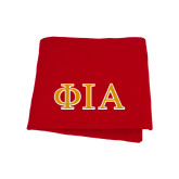 Red Sweatshirt Blanket-Official Greek Letters Two Color