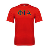 Syntrel Performance Red Tee-Official Greek Letters Two Color