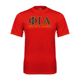 Syntrel Performance Red Tee-Greek Letters Stacked