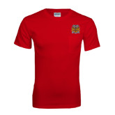 Red T Shirt w/Pocket-Crest