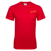 Red T Shirt w/Pocket-Dons Est 1931