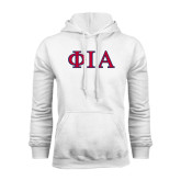 White Fleece Hoodie-Official Greek Letters Two Color