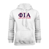 White Fleece Hoodie-Greek Letters Stacked