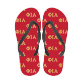 Full Color Flip Flops-Official Greek Letters Two Color