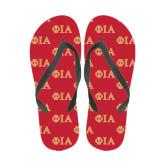 Full Color Flip Flops-Official Greek Letters Two Color