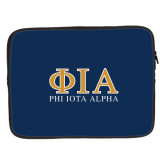 15 inch Neoprene Laptop Sleeve-Greek Letters Stacked