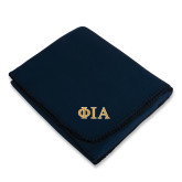 Navy Arctic Fleece Blanket-Official Greek Letters Two Color