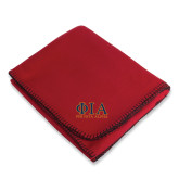 Red Arctic Fleece Blanket-Greek Letters Stacked