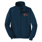 Navy Charger Jacket-Greek Letters Stacked