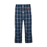 Navy/White Flannel Pajama Pant-Official Greek Letters Two Color