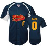 Replica Navy Adult Baseball Jersey-Personalized