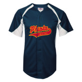 Replica Navy Adult Baseball Jersey-Phi Iota Alpha