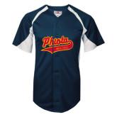 Replica Navy Adult Baseball Jersey-Phi Iota Alpha