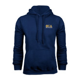 Navy Fleece Hoodie-Greek Letters Stacked