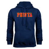 Navy Fleece Hoodie-Tackle Twill Caps PHIOTA
