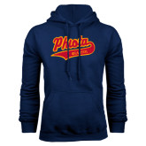 Navy Fleece Hoodie-Tackle Twill Phiota Script