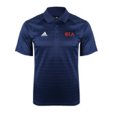 Adidas Climalite Navy Jaquard Select Polo-Official Greek Letters Two Color