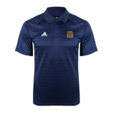 Adidas Climalite Navy Jaquard Select Polo-Crest