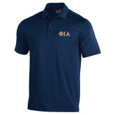 Under Armour Navy Performance Polo-Official Greek Letters Two Color