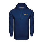 Under Armour Navy Performance Sweats Team Hoodie-Official Greek Letters Two Color