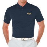 Callaway Opti Vent Navy Polo-Official Greek Letters Two Color